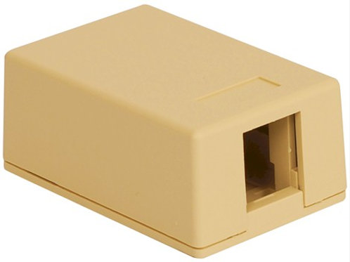 Surface-mount housing for one jack. Two colors. FREE SHIP