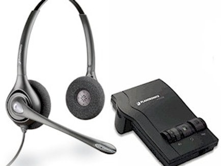 SupraPlus BINAURAL with noise canceling mic & switchbox. FREE SHIP.