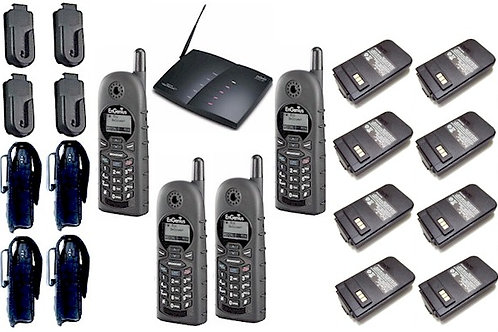 EnGenius DuraFon 4-line package with 4 handsets, 8 batteries, 4 holsters, etc