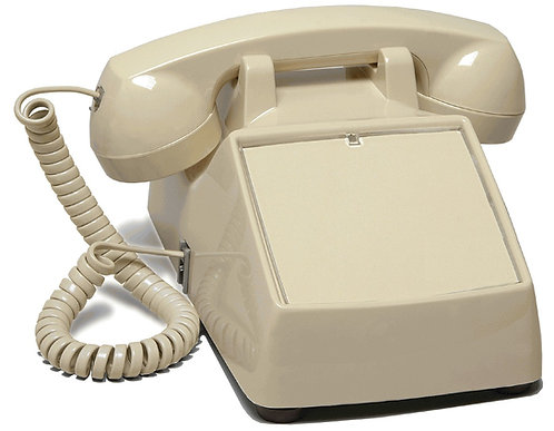 Desk phone with NO KEYPAD FOR DIALING, for answer-only, ring-down. FREE SHIP.
