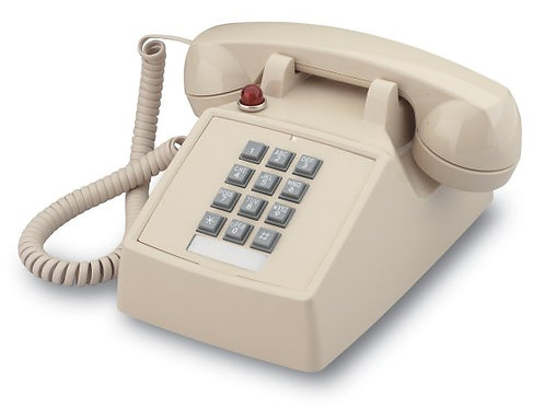Desk phone with MESSAGE WAITING light. Two colors. FREE SHIP