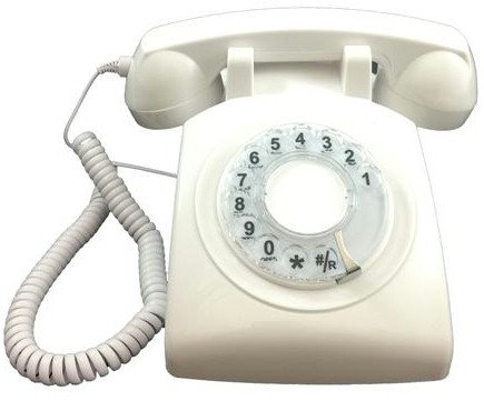 AMAZING TECHNOLOGY: Rotary-dial phone makes touch-tones. 4 Colors. FREE SHIP.