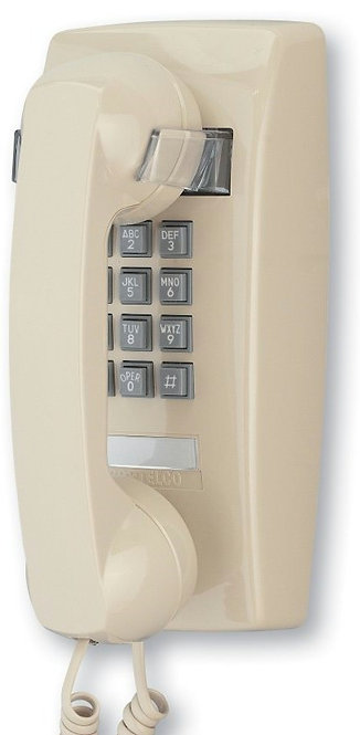 Single-line touch-tone wall phone. Nine colors. Five-yr warranty. FREE SHIP.