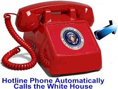 Presidential Hotline phone automatically calls to the White House. FREE SHIP