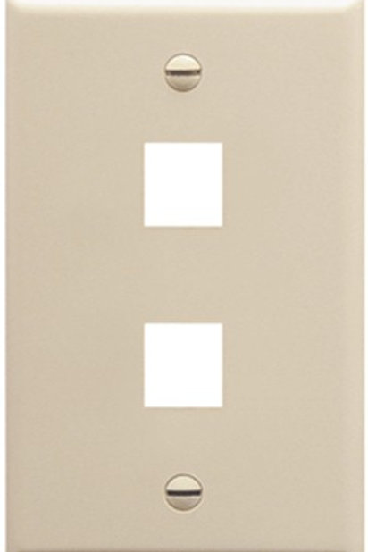 """Two-port plate for """"keystone"""" jack inserts. Several Colors. FREE SHIP"""