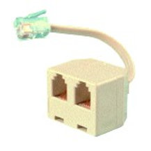 Horizontal duplex multiplier adapter with short cord for 1 or 2 lines. FREE SHIP