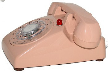 Rotary dial phone with flashing RING INDICATOR LIGHT. Various colors. FREE SHIP
