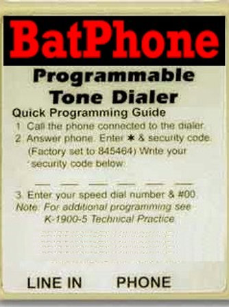 Batdialer Hotline Circuit for automatic calling