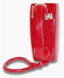 No-dial wall phone for answer-only or external memory. FREE SHIP.