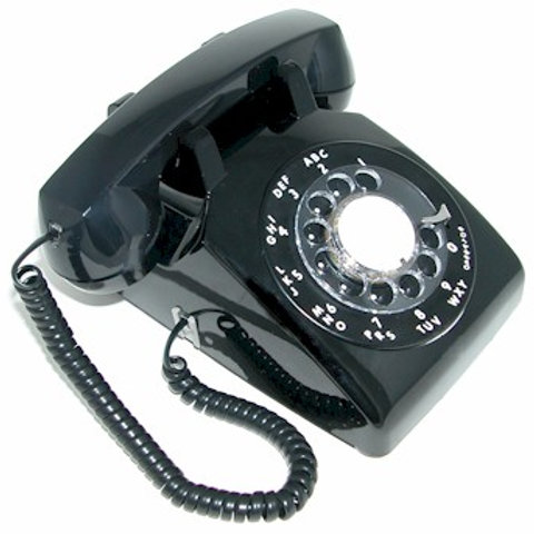 Nearly-New full-modular black rotary dial desk phone. FREE SHIPPING in the USA.