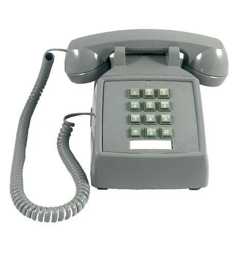Single-line touch-tone desk phone. Nine colors. Five-yr warranty. FREE SHIP.