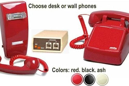 Automatic Ringdown Intercom set. Pick up handset & other phone rings. FREE SHIP
