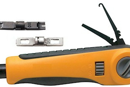 VersaPunch kit with 66 & 110 blades plus swing-out hook and spudger. FREE SHIP