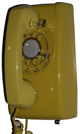 "RARE! ""Nearly New"" rotary-dial wall phone. Seven colors. FREE SHIP."