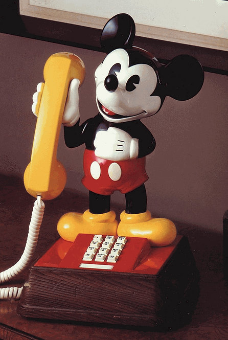 EXTREMELY RARE. Western Electric/Bell System Mickey Mouse phone. FREE SHIP.