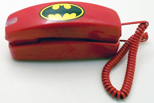 NEW. Bat Trimline phone with flashing light. Table or wall. FREE SHIP.