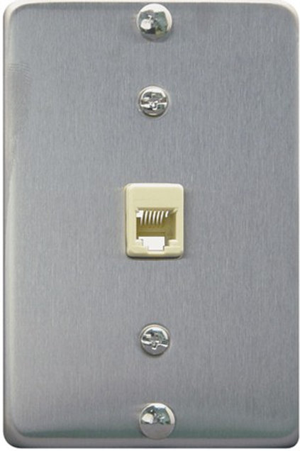 Stainless steel jack for wall phone. FREE SHIP