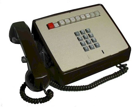 9-line touch-tone desk phone. Refurbished. FREE SHIP.