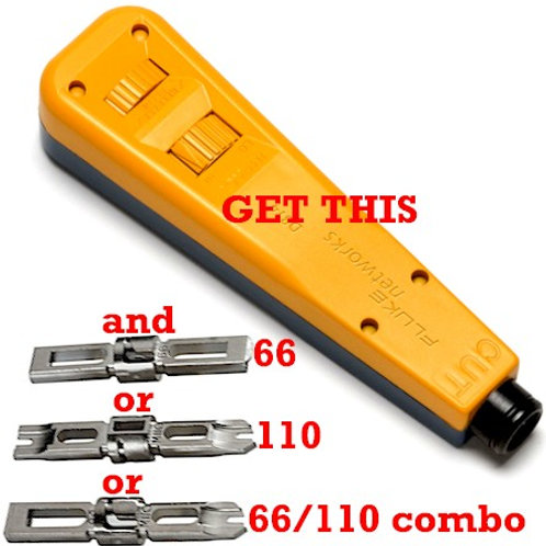 814 punchdown tool with your choice of three long-life EVERSHARP blades. FREE S