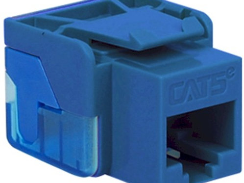 Category 5e jack inserts for multi-port plates. Choose from 4 colors. FREE SHIP