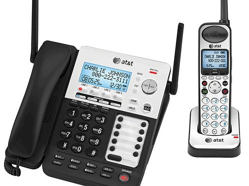 AT&T SynJ starter pack with base phone and one cordless handset. FREE SHIPPING.