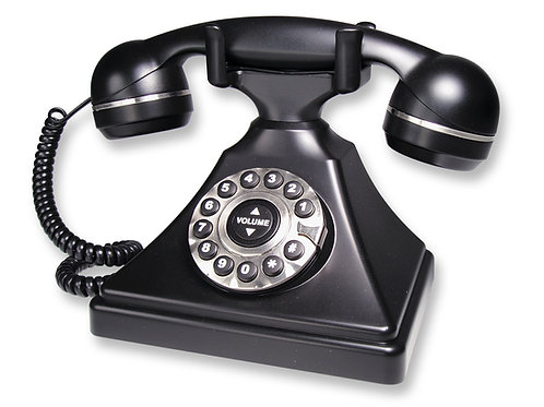 Retro-style, commercial-quality 1-line table phone. FREE SHIPPING in the USA.