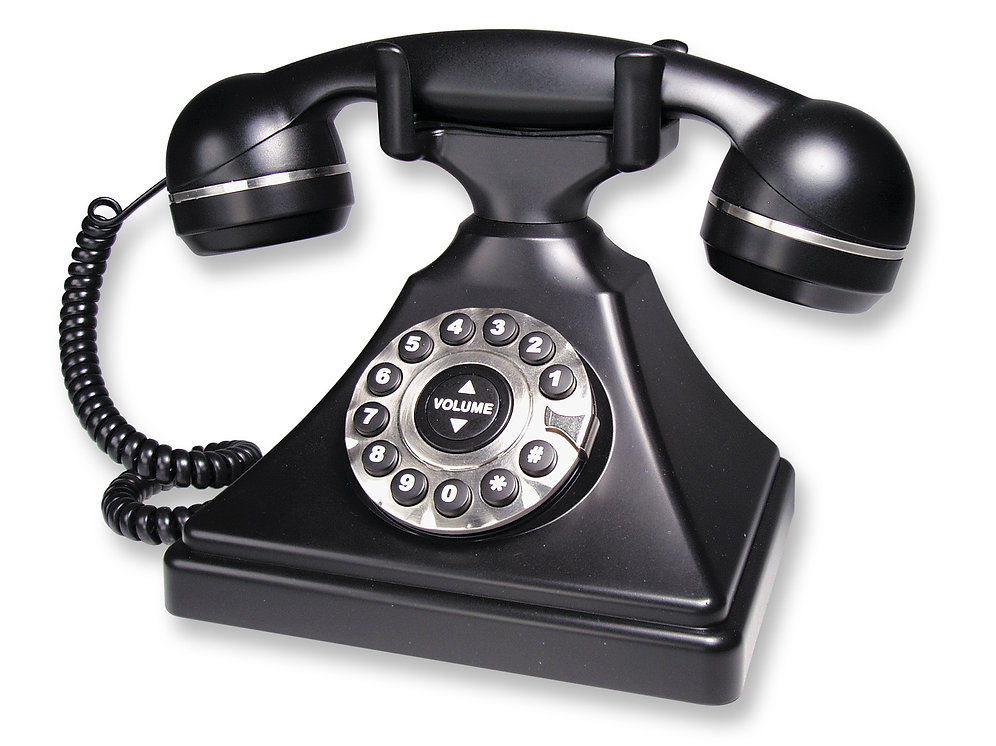 Retro-style, commercial-quality 1-line table phone  FREE SHIPPING in the  USA  | ablecomm