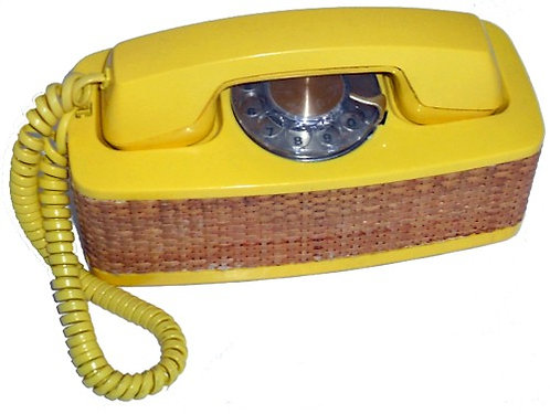 """AT&T """"Accent"""" is a wonderful relic of the 1970s. Butter Yellow. FREE SHIP."""