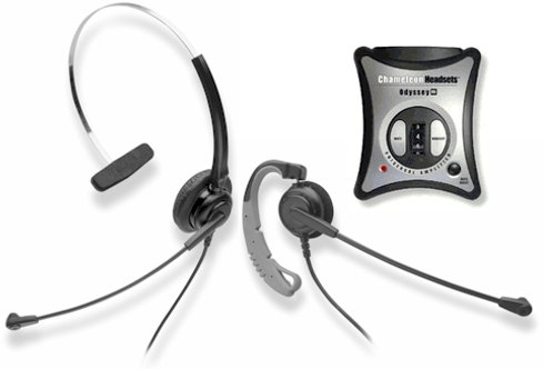 CONVERTIBLE headset w. noise canceling mic works on head or ear. FREE SHIP