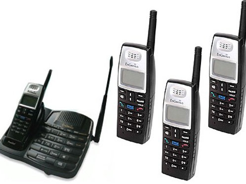 EnGenius FreeStyl 1 long-range cordless phone. Comes with one handset, add 8