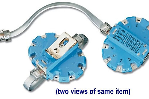 Modapt test adapter connects clips to jacks. FREE SHIP