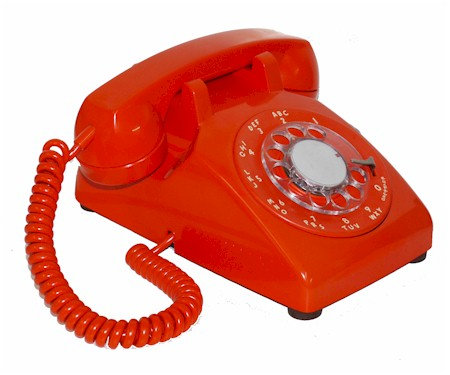 Rough and Ready rotary-dial desk phone. Various colors. FREE SHIP.