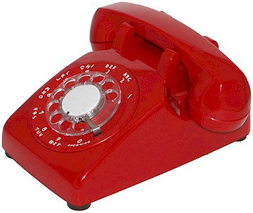 """RARE! """"Nearly New"""" rotary-dial desk phone. Seven colors. FREE SHIP."""
