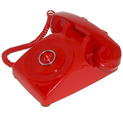 """""""Passive"""" Bright red classic Batphone for desk or table use. FREE SHIP"""