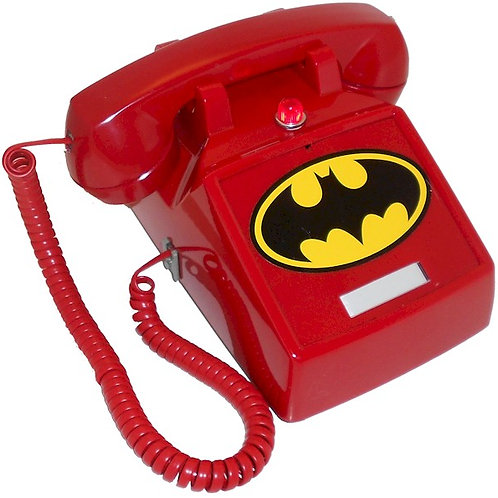"""Passive"" NEW DESIGN. BatPhone 2, with flashing light and Bat Symbol. FREE SHIP"