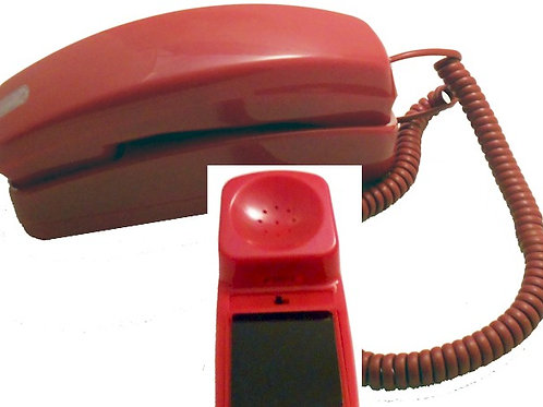 No-dial Trimline-style phone for table or wall. Four colors. FREE SHIP