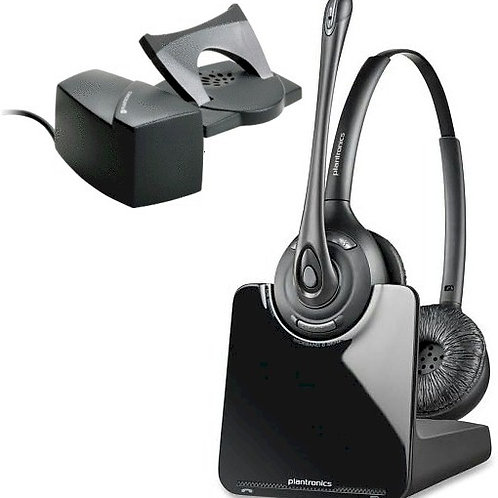 NEW Plantronics CS520 BINAURAL DECT 6.0 wireless headset with lifter. FREE SHIP