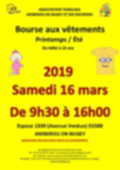 Flyer bourse aux vetements 16 mars 2019-