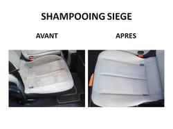shampooing de siège automobile
