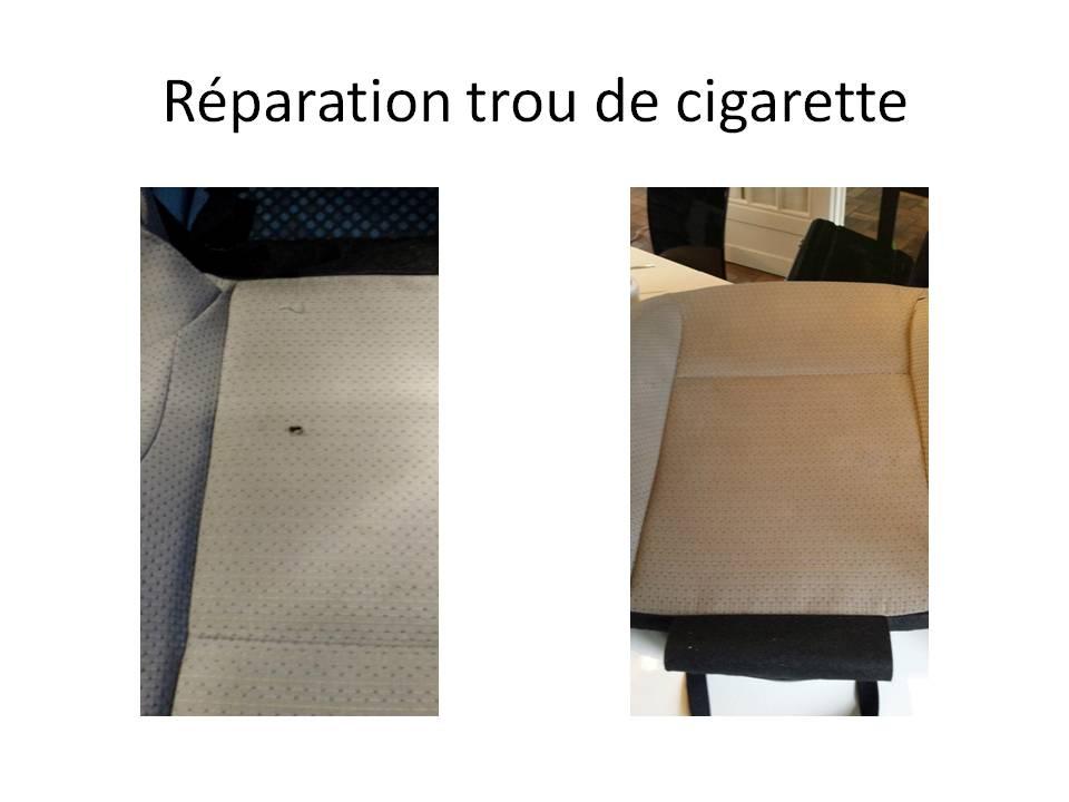 Réparation trou de cigarette