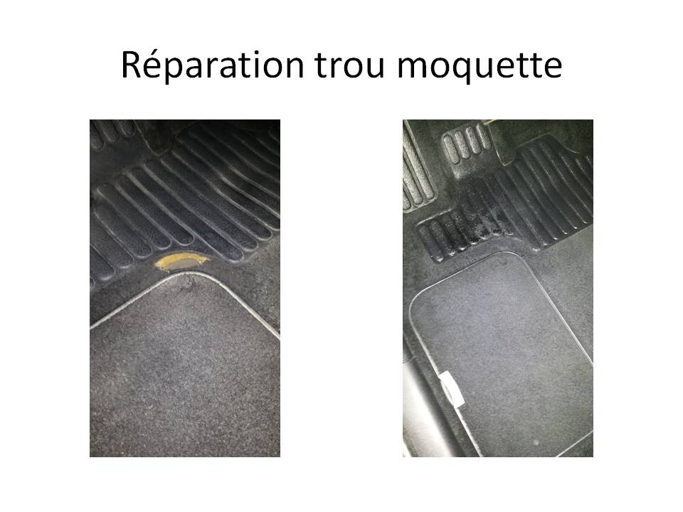 Réparation trou moquette