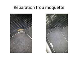 moquette dechirée réparation breizhautonet