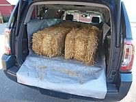 CarGo Apron in GMC Yukon xl - hay bales.