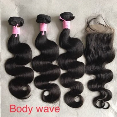 Body Wave 3 Bundles W/ Closure Deal