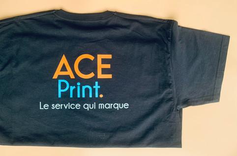Tshirt noir - transfert sérigraphie 3 c