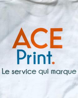 Tshirt blanc - transfert sérigraphique