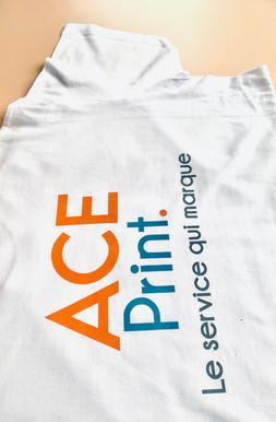 Tshirt blanc - transfert sérigraphie 3