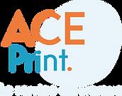 Logo ACE Print - base line bleu clair.pn