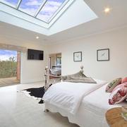 Apartments- bedroom, skylight, bush- web