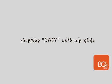 easy&safe shopping with nip-glide walker